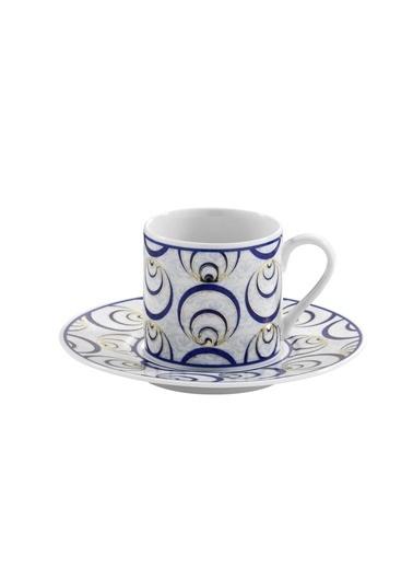 Kütahya Porselen Çintemani 9726 Desen Kahve Fincan Takımı Renkli